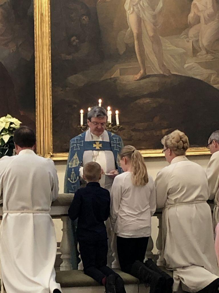 Ehtoollinen Tyrvään kirkossa 1.12.2019