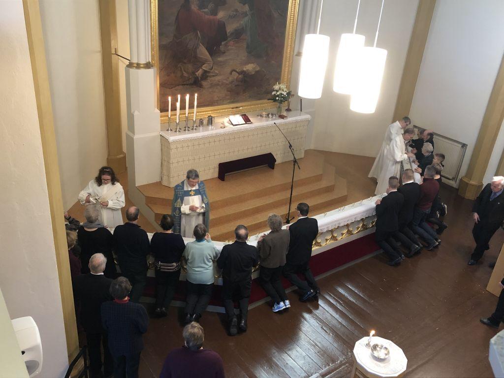 Ehtoollisen vietto Someron kirkossa