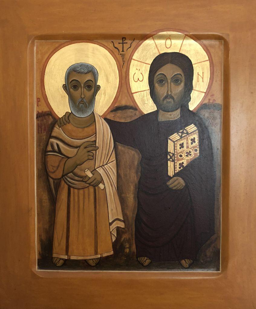 Menas ja Kristus ikonimaalaus